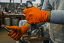 Premium Heavy-Duty Orange Nitrile Gloves