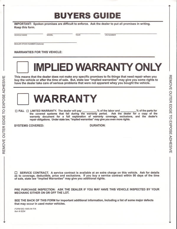 Pressure Sensitive Buyers Guide | Implied Warranty | Buy Now - Estampe