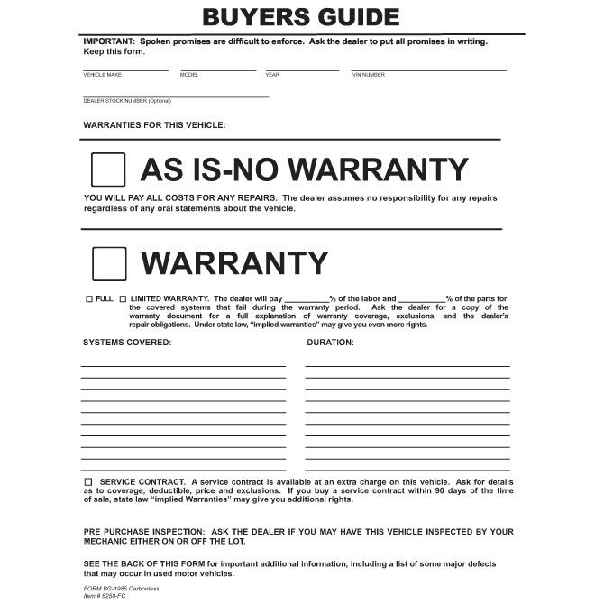 Pressure Sensitive Buyers Guide | As Is | No Warranty | Buy Now ...