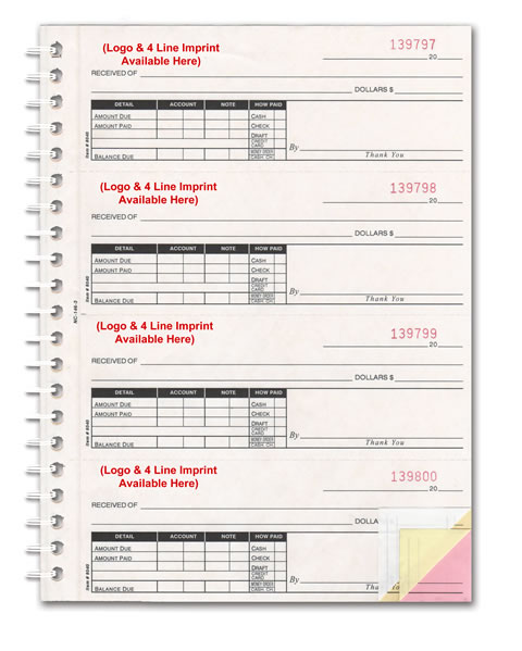 buy cash receipt books 2 3 or 4 part estampe