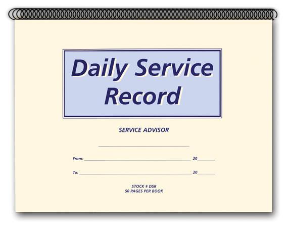 buy daily service record book estampe
