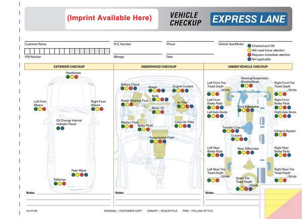 Express Lane Inspection Form | Buy Now - Estampe