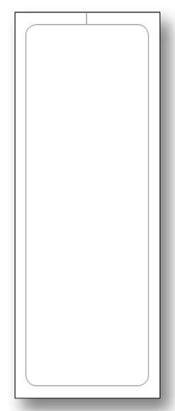 Blank Addendum Stickers - Adhesive