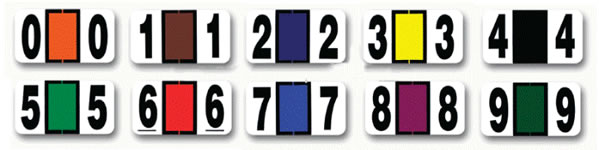 Color Coding Label Numbers