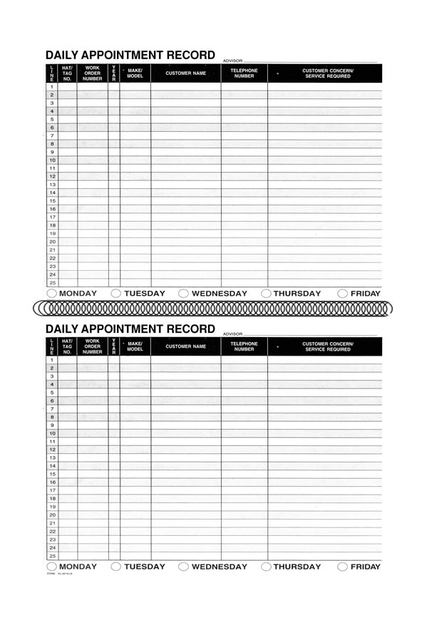 Daily Appointment Book - Coil-Bound