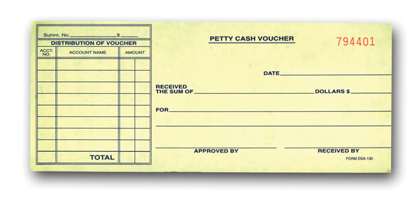 Petty Cash Voucher