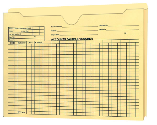 Accounts Payable Voucher Envelope - Expandable Jacket
