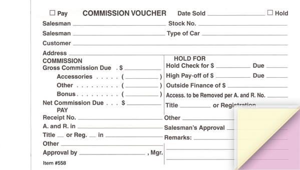 Commission Voucher (Gross/Net)
