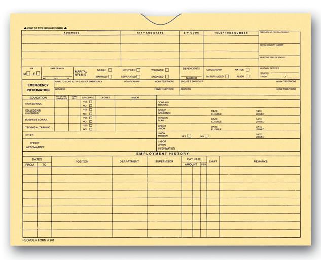 Buy Employee File Folders Estampe