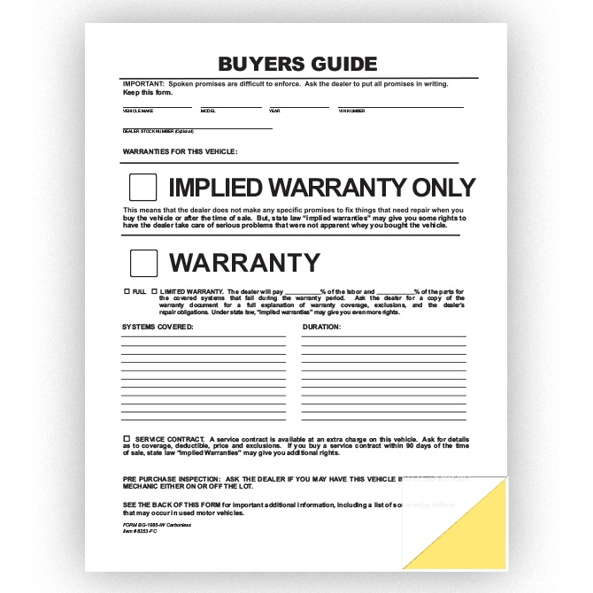 Buyers Guide - File Copy - Implied Warranty