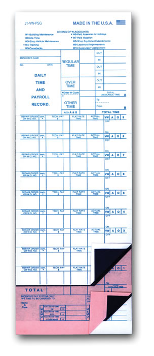 Job Time Tickets
