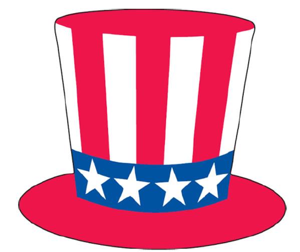 Patriotic Hat Windshield Sticker