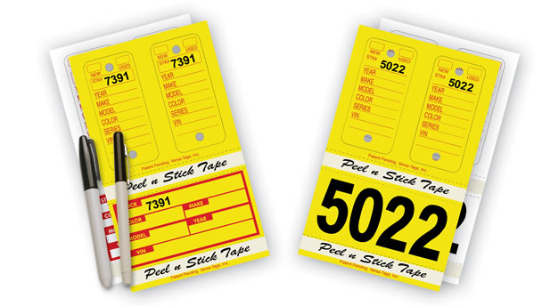 Combo Poly Key Tag & Stock Number Sets
