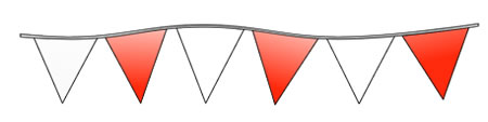 Triangle Pennant Streamers