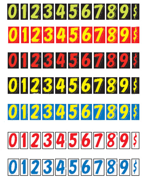 Windshield Numbers - N7 - Color