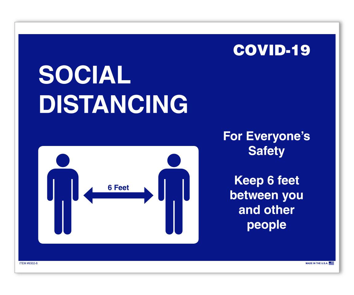 COVID-19 Notice - Door Signage