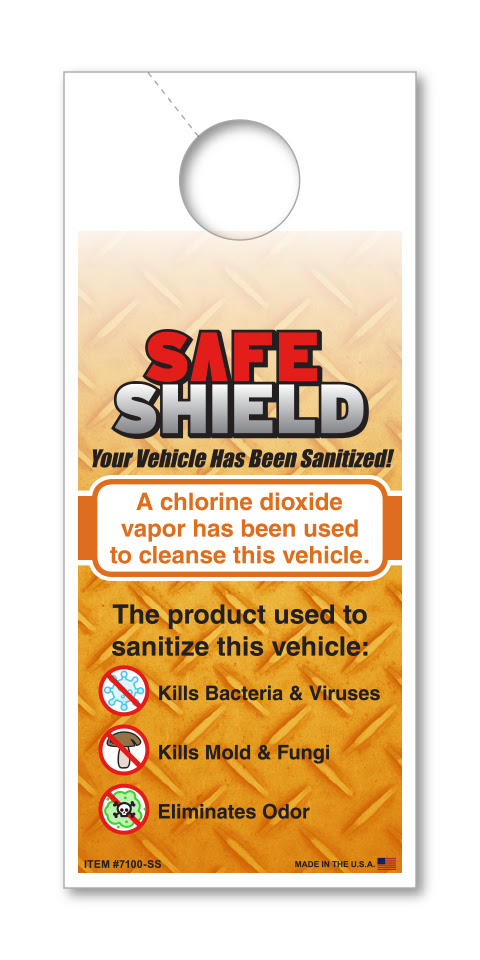 Safe Shield - Small Hang Tag