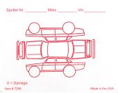 Red Alert Vehicle Damage Inspection Form