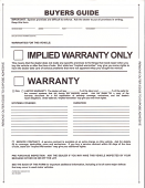 Pressure Sensitive Buyers Guide - Implied Warranty