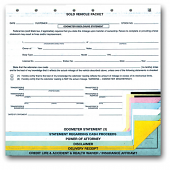 Sold Vehicle Combination Form