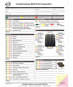 Multi-Point Inspection Forms - Nissan