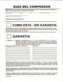 Buyers Guide Spanish Version Pressure Sensitive Sticker