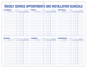 Six Day Daily Service Appointment Pad