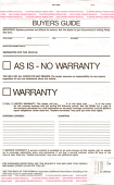 FTC Used Car Buyers Guide Form - 2 part