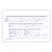 Customer Lead Cards For Car Sales