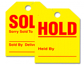 Jumbo Hold-Sold Mirror Hang-Tags