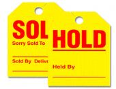 Jumbo Hold-Sold Mirror Hang-Tags