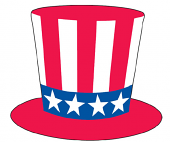 Patriotic Hat Windshield Sticker
