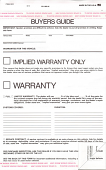 Buyers Guide Implied Warranty