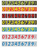 Windshield Numbers - N7 - Color