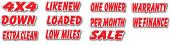 Die Cut Auto Slogans