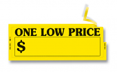 One Low Price Window Sticker