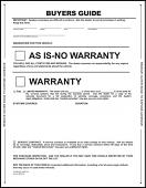 Pressure Sensitive Buyers Guide Sticker - No Lines